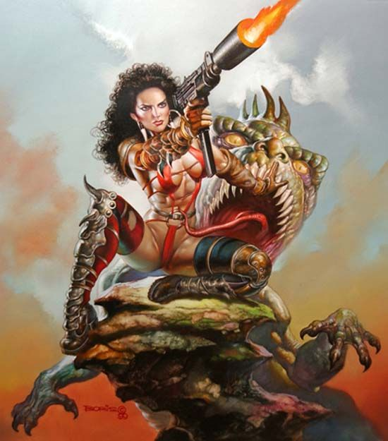 Fantasy warrior art vallejo boris