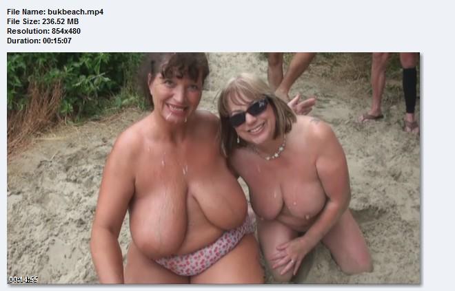 Big tits grannies beach