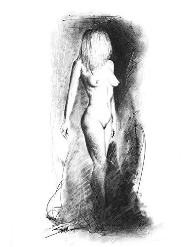 Erotic nude art drawing