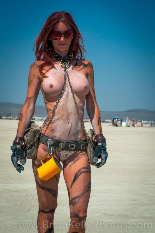 Burning man naked girl/