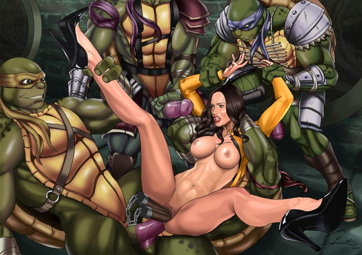 Ninja turtle april naked