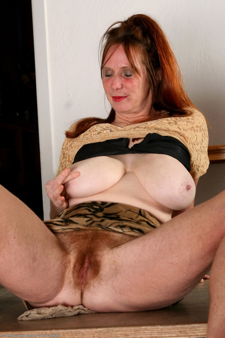 Curvy busty hairy mature women