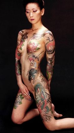 Tattoo nude girl full body beautiful