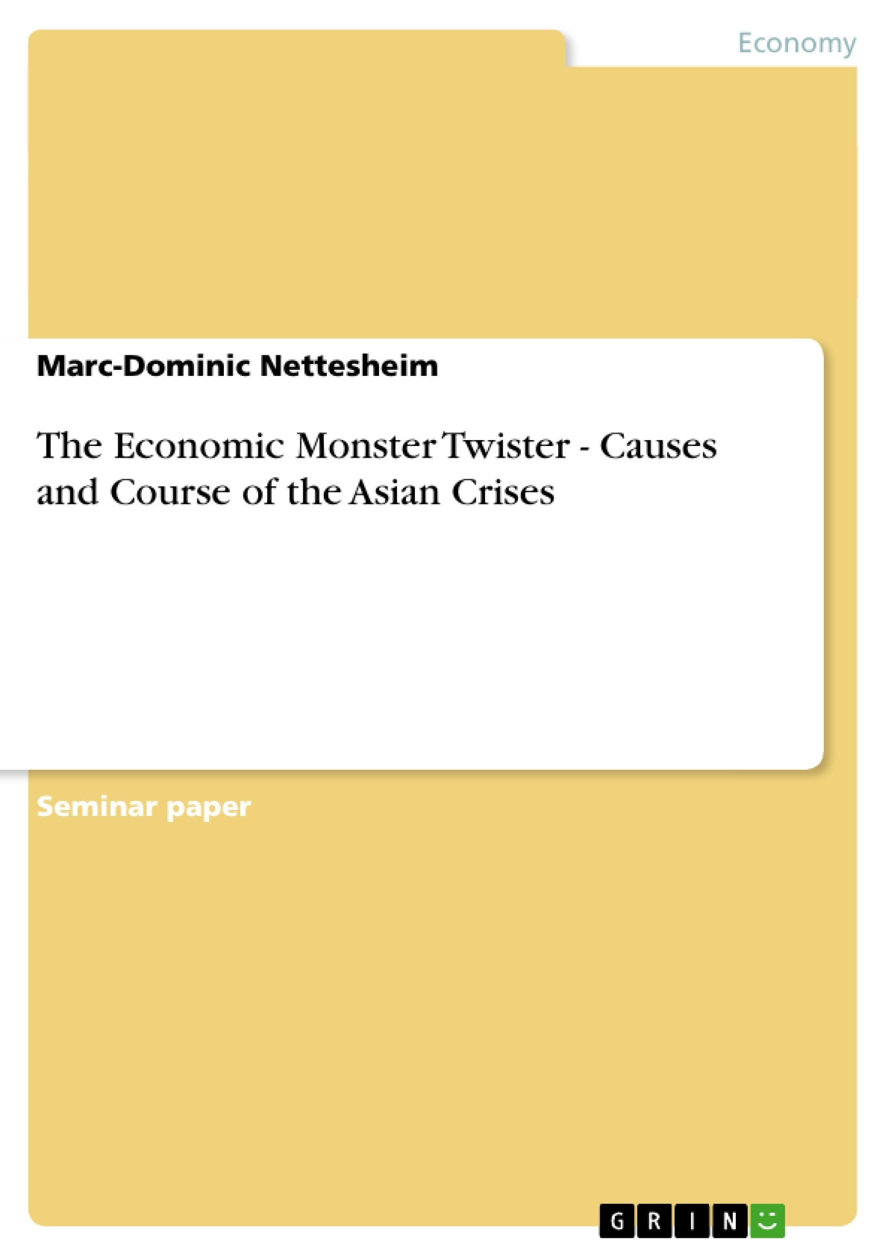 The asian crisis afterthoughts on analytical