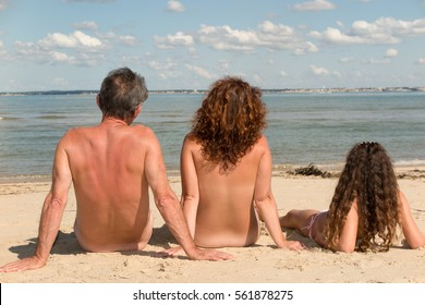 Naked with nudist family