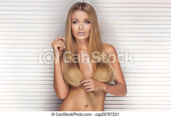 Blonde girls hair long nude