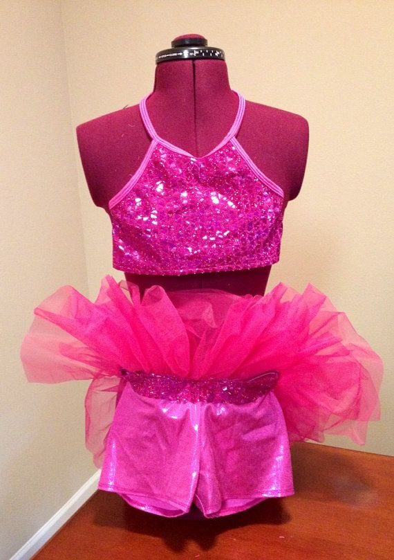 Hot pink acro dance costumes