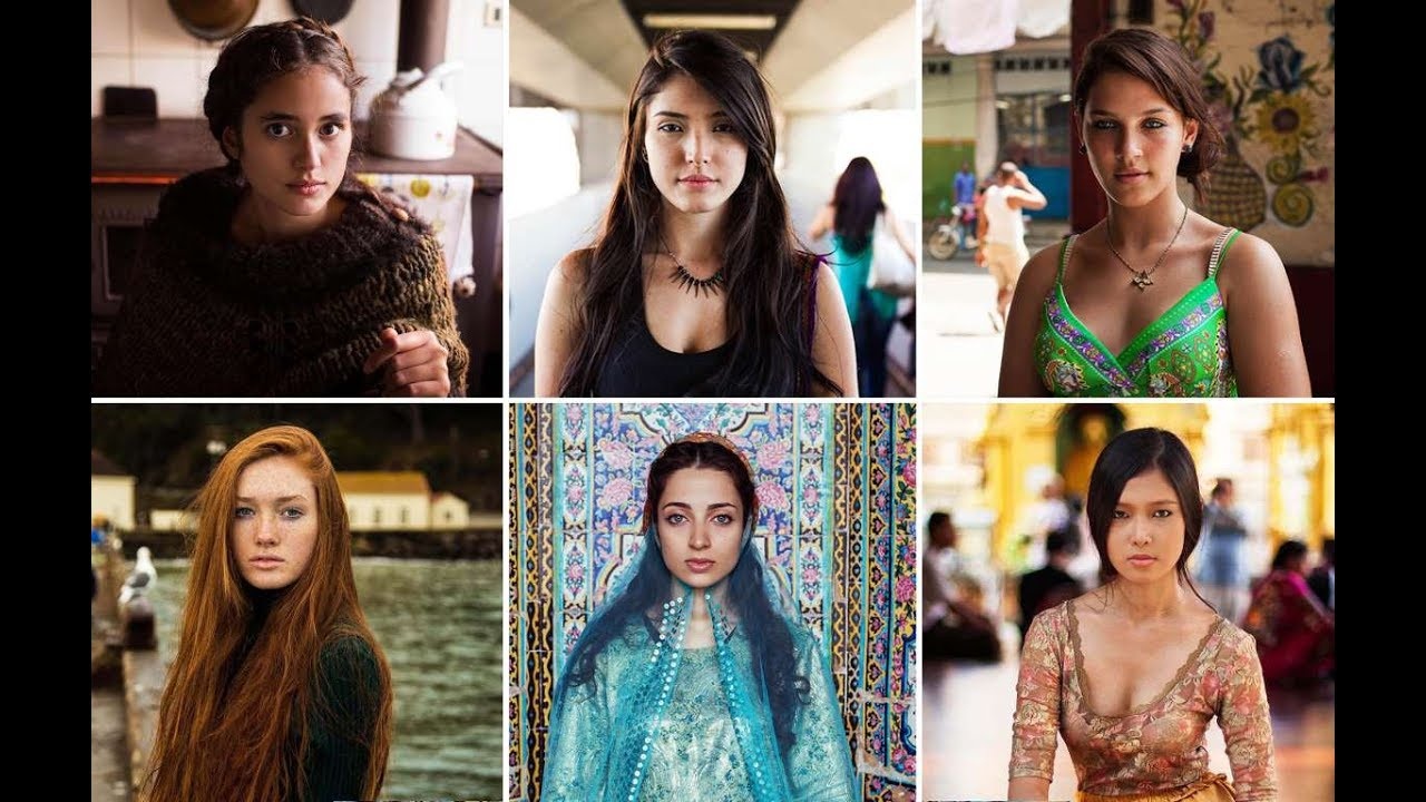 Beautiful women from different countries