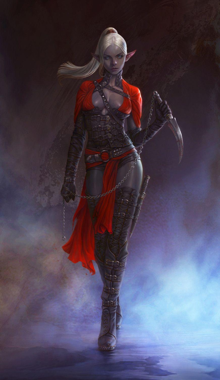 Fantasy nudes elf vampire assassin