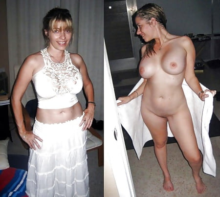 Clothed and unclothed brides