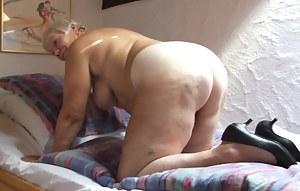 Big butt granny on street