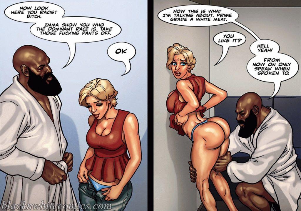 Black girl interracial cartoon porn comics