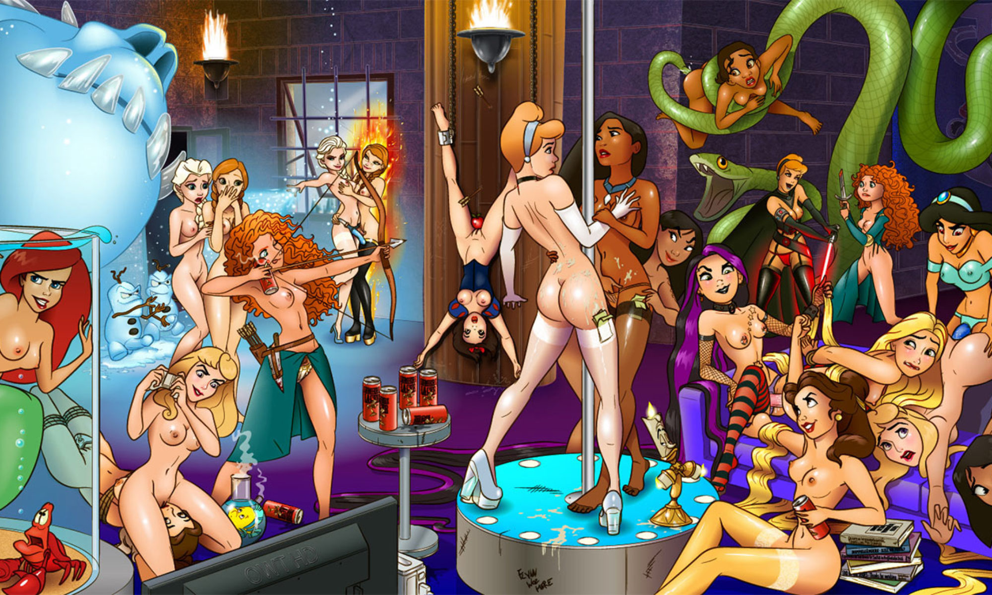 Sexy disney princess naked