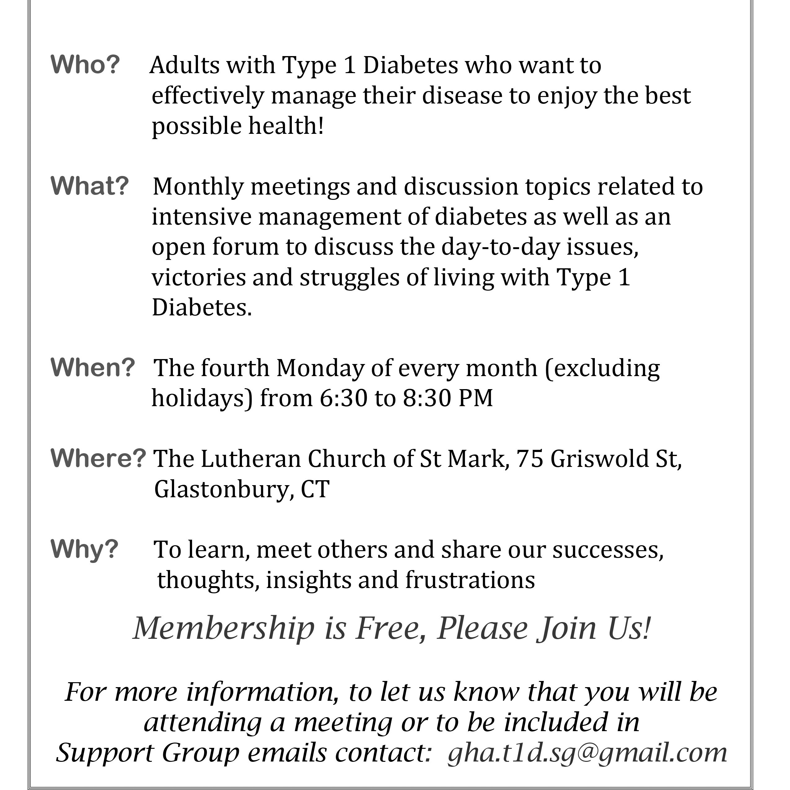 Ct support groups for adults