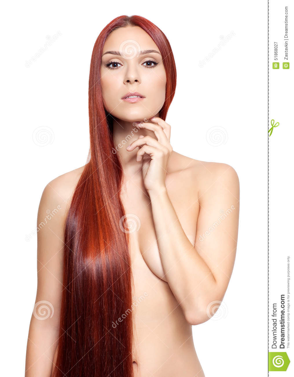 Naked head women red beutifull
