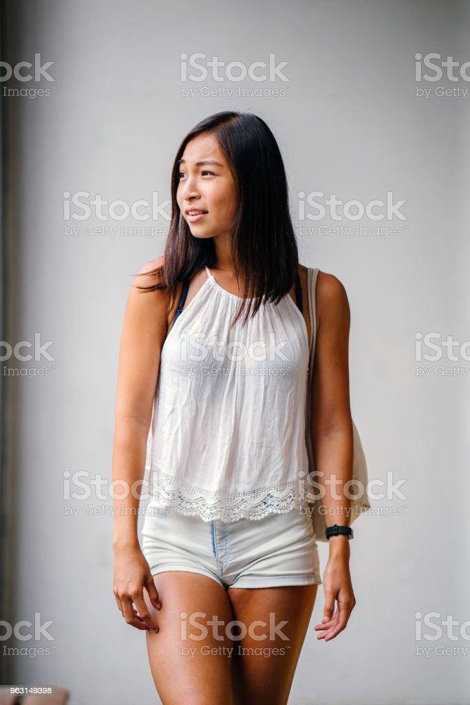 Asian teen see through