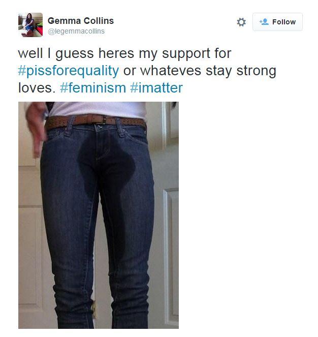 Pee her pants tumblr