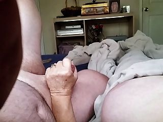 Teen old man jacking off