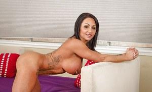 Lisa pulls down panties