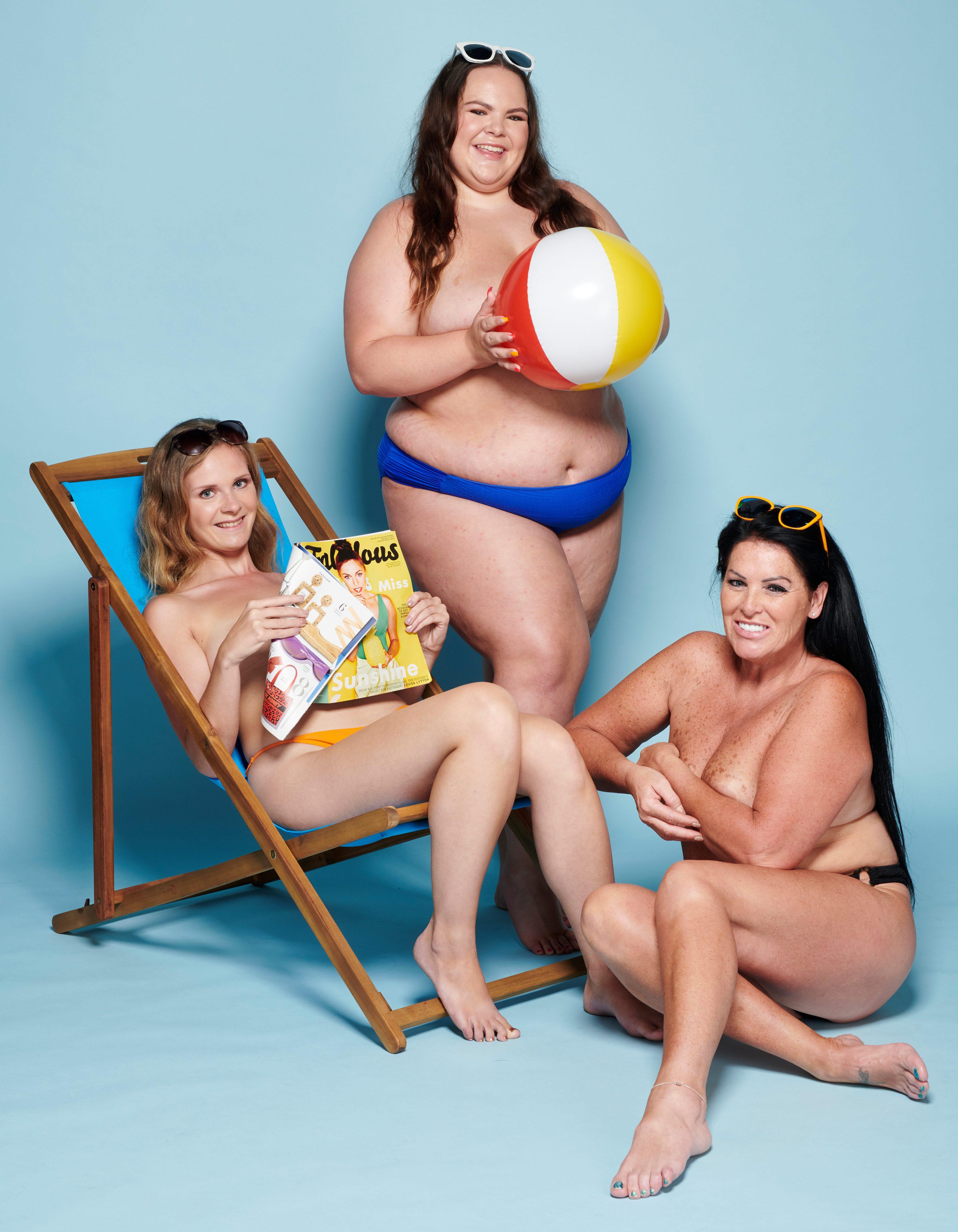 Girl big boobs nude sunbath