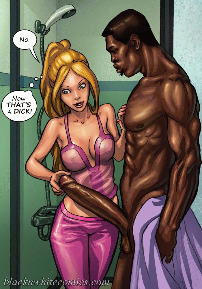 Black and white interracial cartoon porn