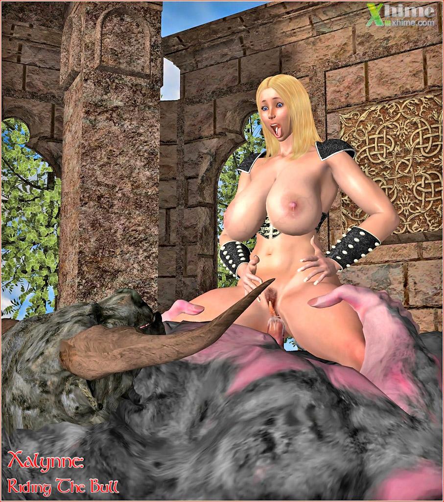 Anime girl naked and giving birth