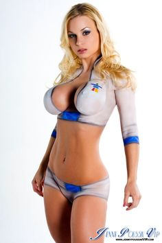 Big tits body paint