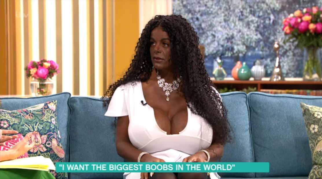 Big black breast woman