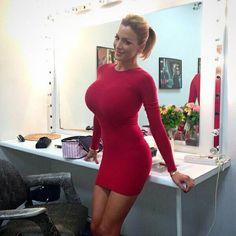 Sexy tight dress big tits