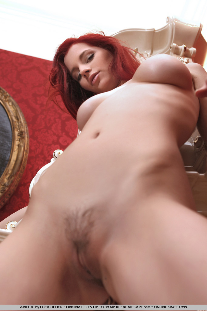 Natural red hair pussy trimmed