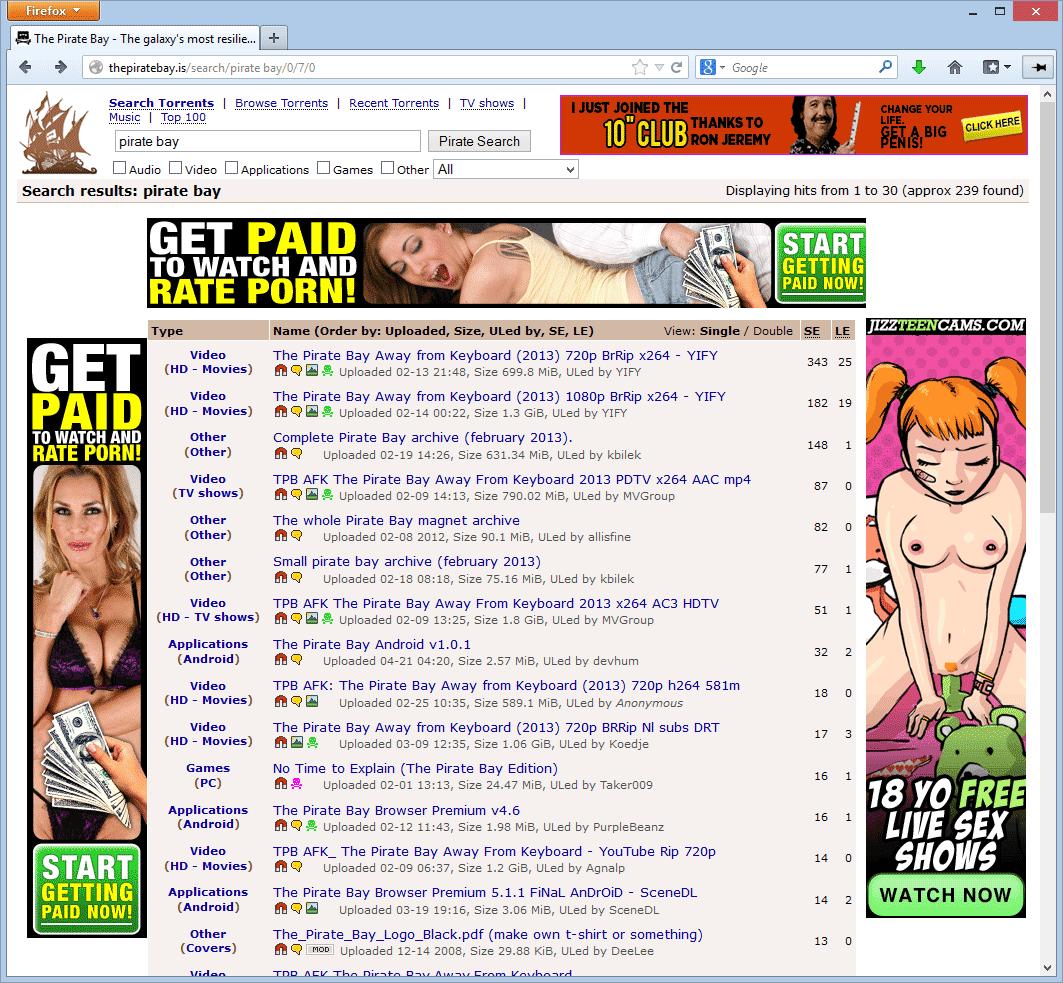 Lesbian bukkake torrent pirate bay
