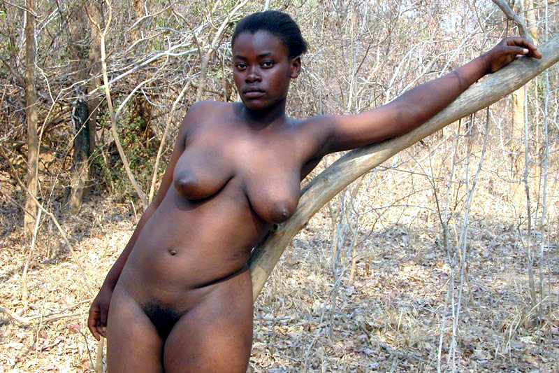 Full naked african woman