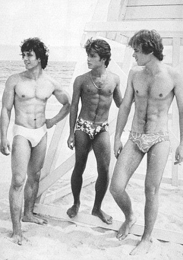 Vintage nudist boys beach