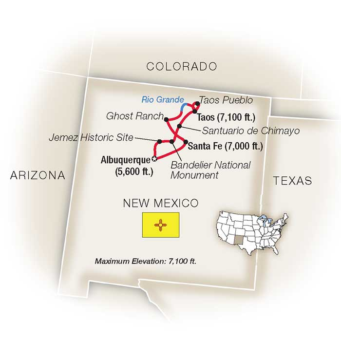 New mexico escorted travel