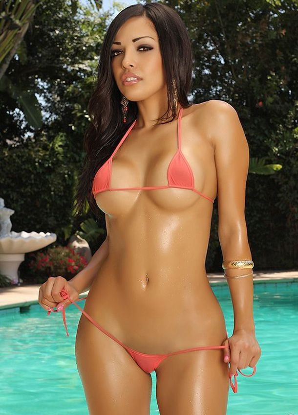 Hot girls in tight micro bikinis
