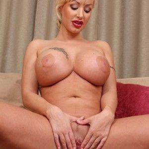 Natural blonde curvy woman