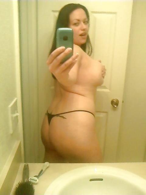 Real amateur moms selfie