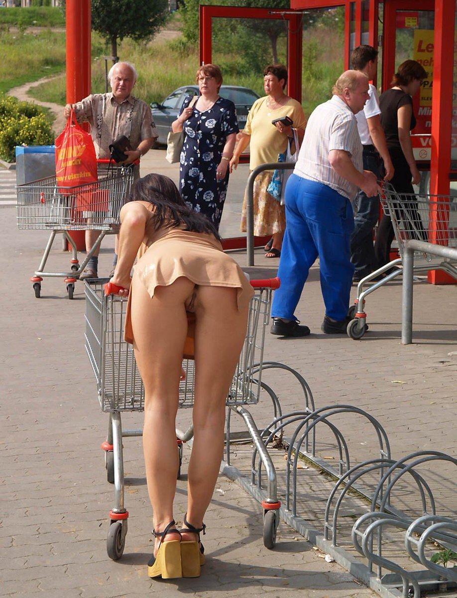 Nude in public upskirt