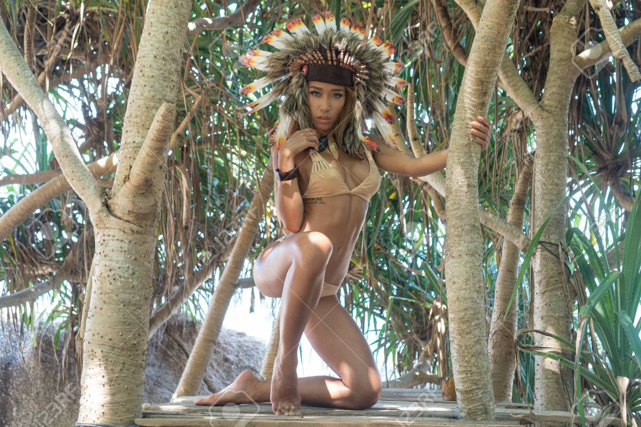 Nude native american lingerie