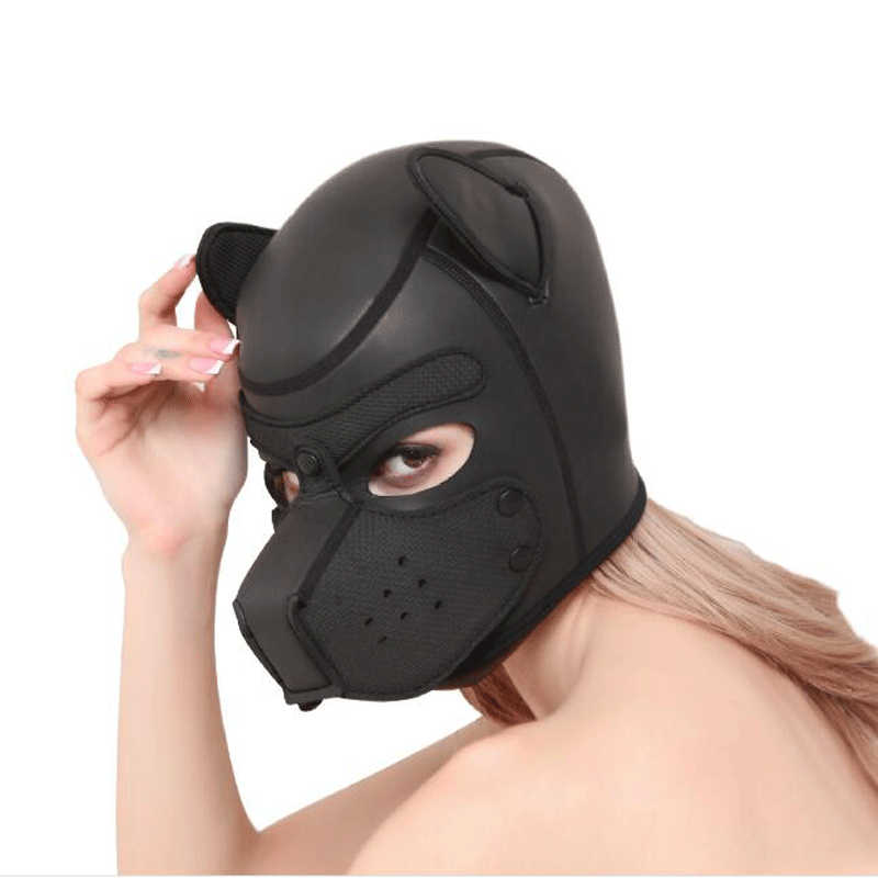 Bondage hoods for sex play