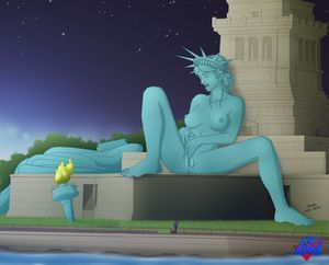Porn liberty nude of statue