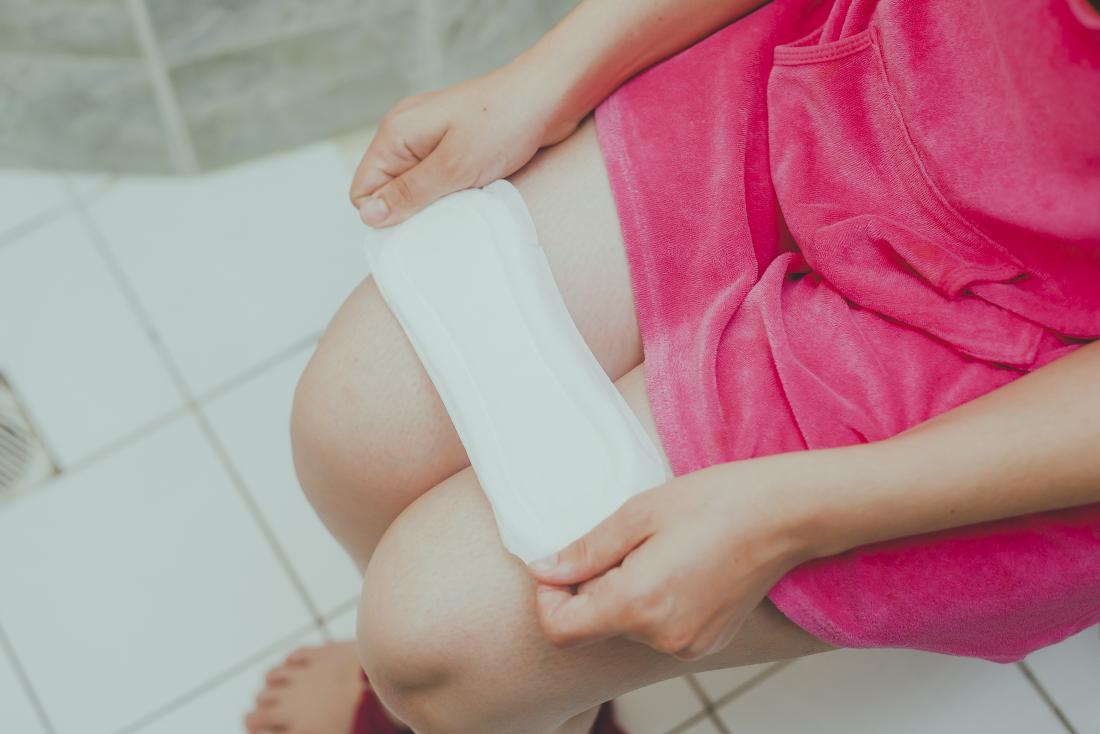 Girls changing sanitary pads