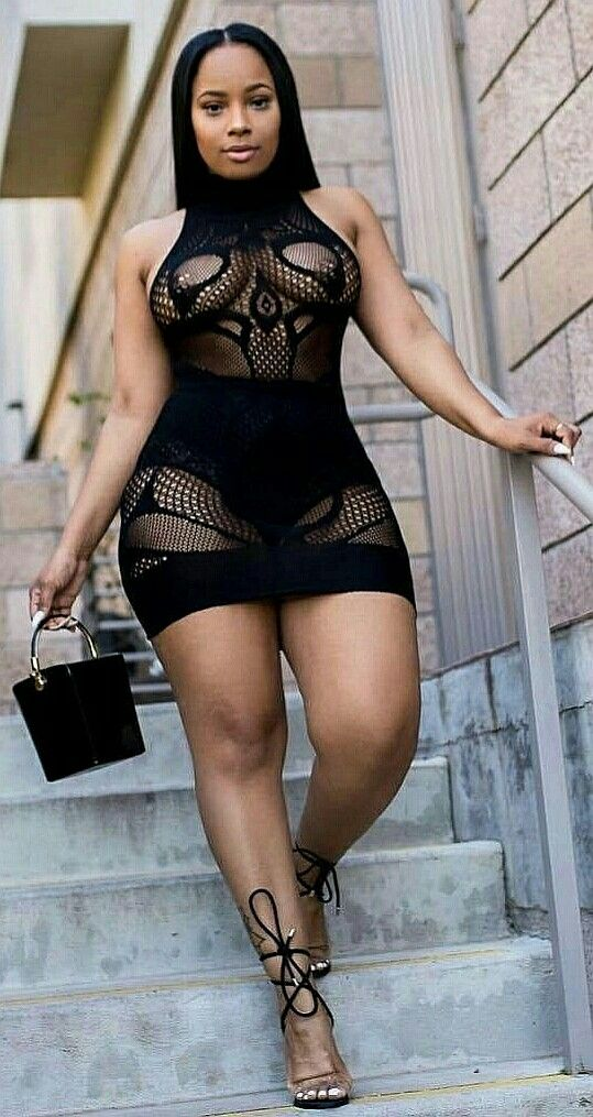 Sexy black beautiful women with curves