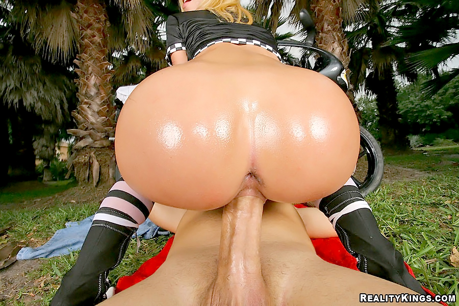 Asshole big hot booty oiled in fucked super hard ass