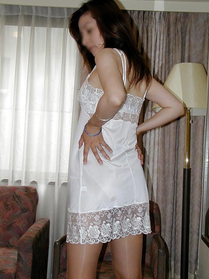 Satin slip fetish pic