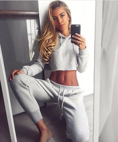 Hot girl naked sweatpants selfie
