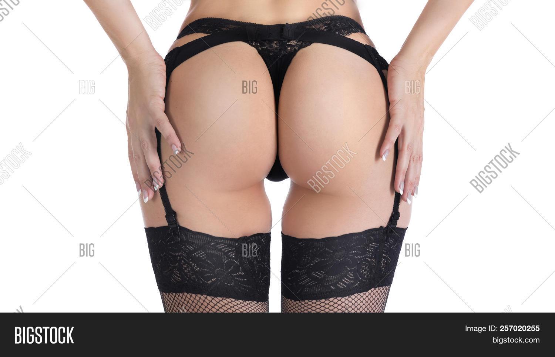 Ass sexy garter belt big