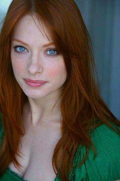 Busty pale redhead amateur