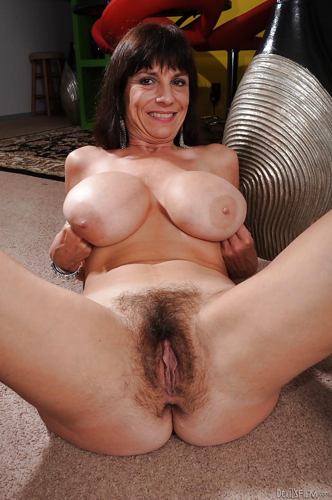 Hairy natural milf boobs