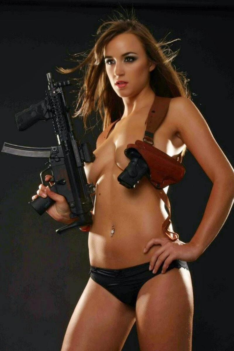 Nude girls with guns